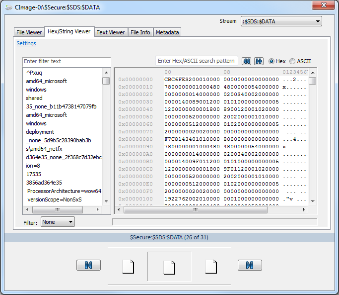 OSForensics - FAQs - How to view files with NTFS streams